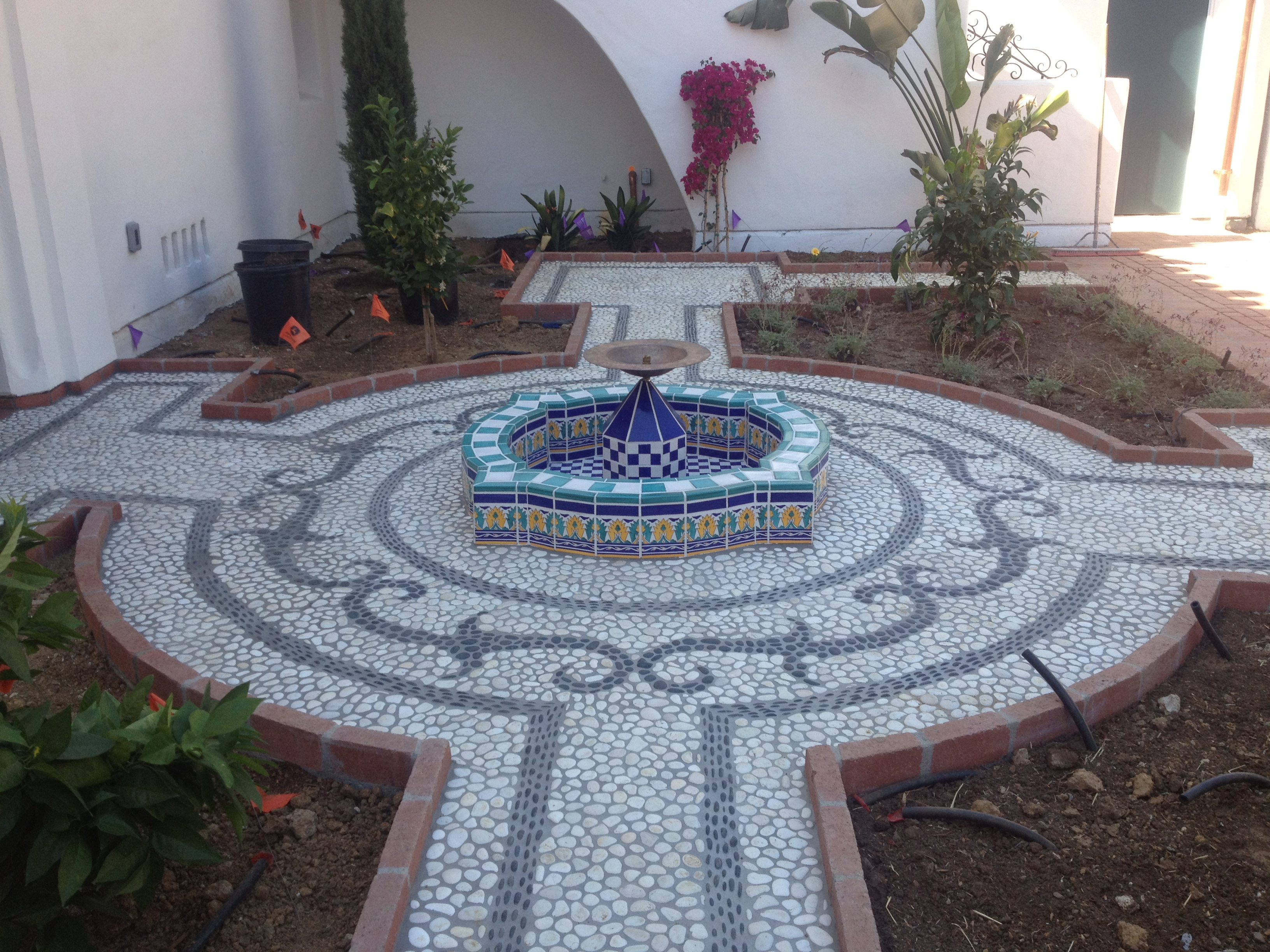 Pebble Mosaic Paving Detail