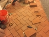 Italian Precise Terracotta Paving Brick Laid Tight